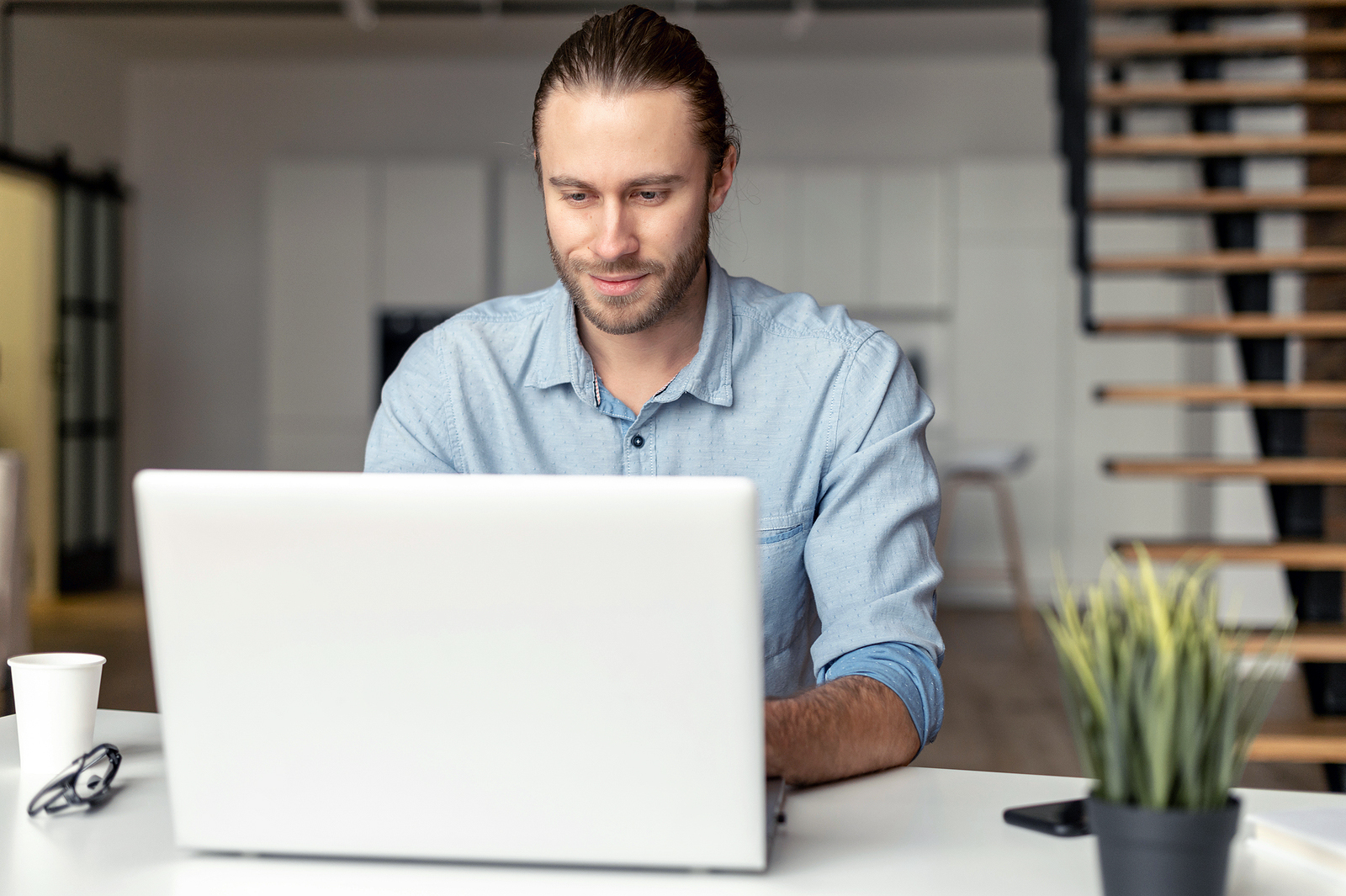 Job Candidate Shown Applying For Jobs Online