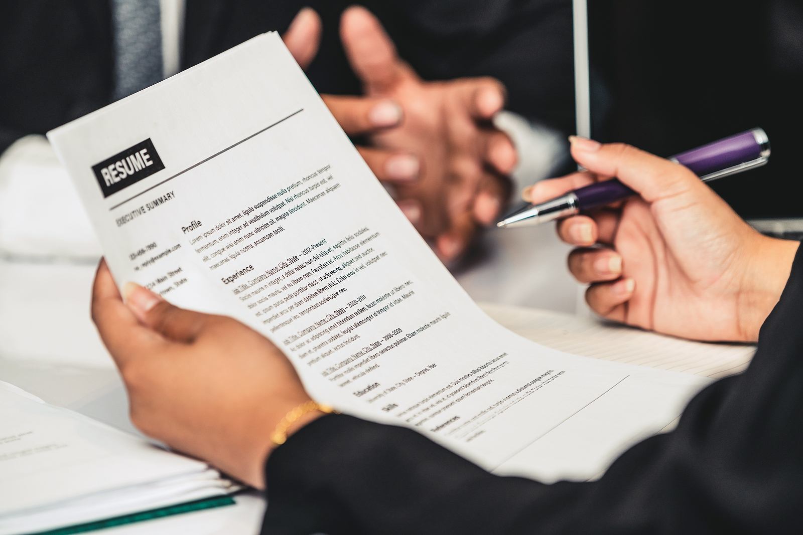 Job Candidate Tailors Their Resume to the Job Description